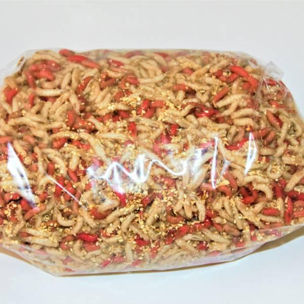 Maddiker Hvid Rød mix
